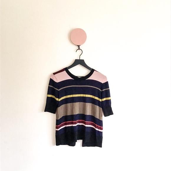 654fe6efe Rachel Rachel Roy Bow Tie-back Striped Sweater